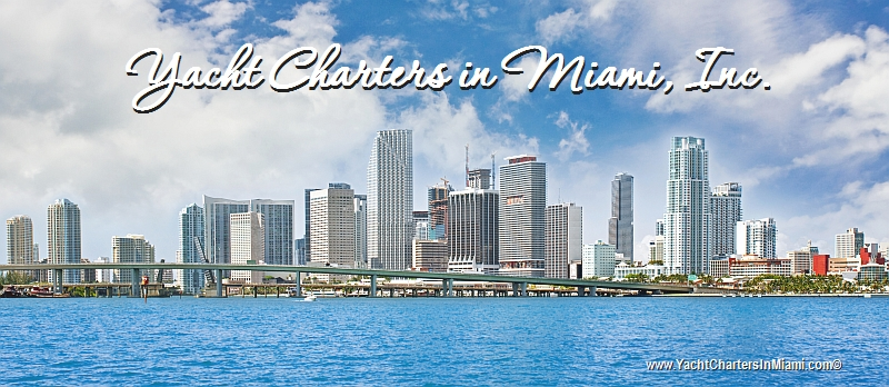 Yacht Charters in Miami skyline