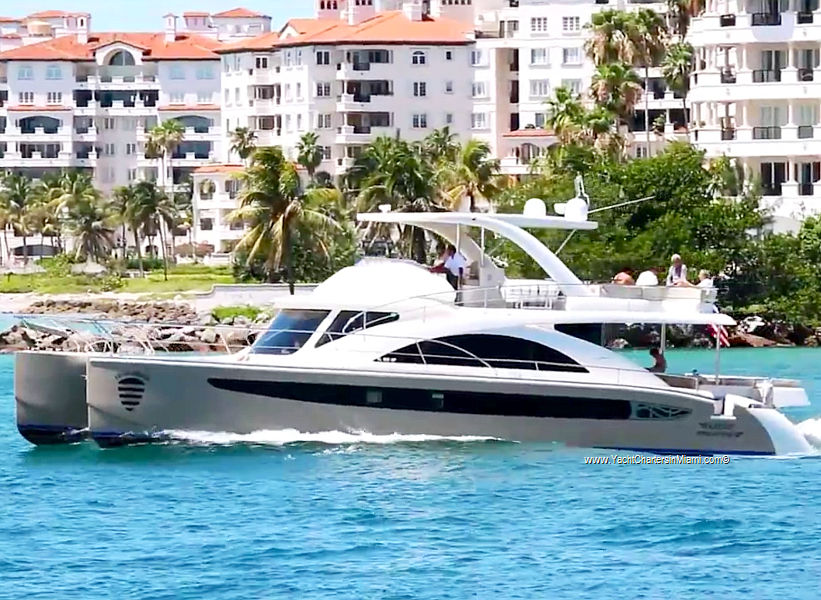 Yacht Charters In Miami 65 Powered Catamaran Yacht For Day