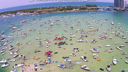 Haulover Sandbar Miami Boat Party